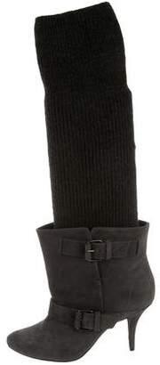 Givenchy Rib Knit Knee-High Boots