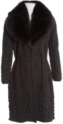 Ermanno Scervino Grey Beaver Coats