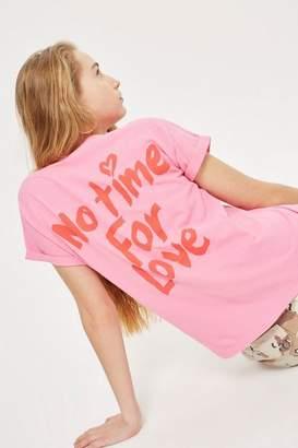 Topshop Petite 'No Love Back' T-Shirt
