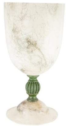 Footed Glass Vessel