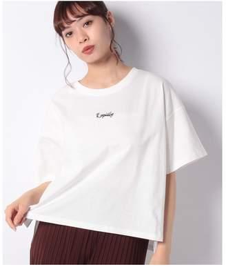 CECIL McBEE (セシル マクビー) - CECIL McBEE ロゴ刺繍ビッグシルエットTシャツ