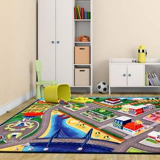 Nickelodeon G.A. Gertmenian & Sons Paw Patrol Polyester Gray/Green Kids Rug