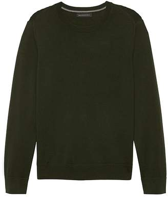 Banana Republic Italian Merino Crew-Neck Sweater 0aa5e24849ea