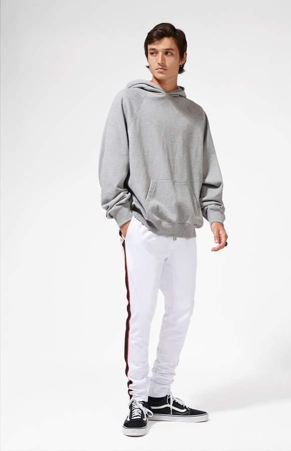 PacSun Drop Skinny Side Stripe White Track Pants