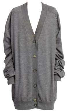 Maison Margiela Wool Button-Front Cardigan