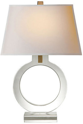 Visual Comfort & Co. Small Ring Form Table Lamp - Crystal