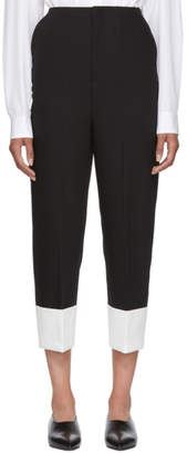 Enfold Black and White Cuff Trousers