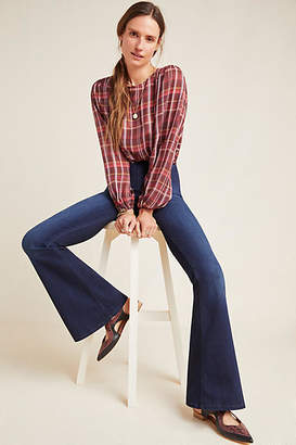Ella Moss The Pull-On High-Rise Flare Jeans