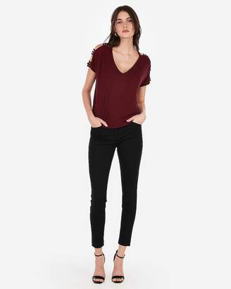 Express One Eleven Strappy Sleeve Dolman Tee