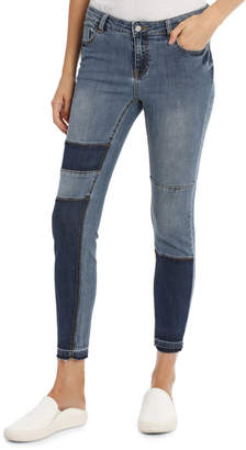 Miss Shop Maddy Midrise Colour Block Skinny Jean