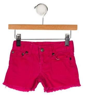 Ralph Lauren Girls' Denim Mini Shorts