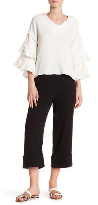 Moon River Cropped Linen-Blend Pant $95 thestylecure.com