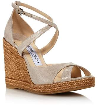 ebb9e76586c Jimmy Choo Women s Alanah 105 Cork Wedge Heel Sandals