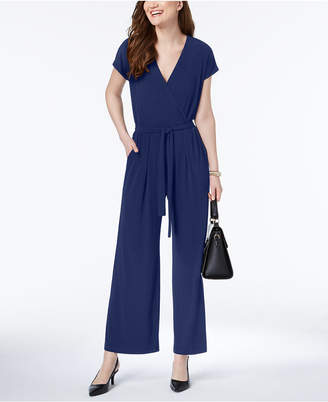 Alfani Solid Wide-Leg Jumpsuit