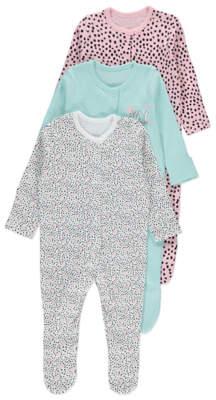 George Polka Dot Sleepsuits 3 Pack
