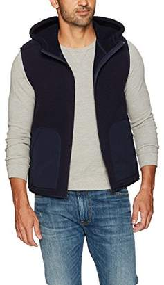 Vince Men's Reversible Sherpa Hooded Vest