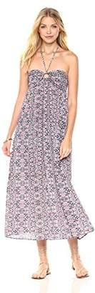 Peace Love Maxi Women's Spaghetti Strap Halter Dress
