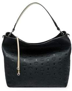 MCM Large Klara Leather Hobo Bag