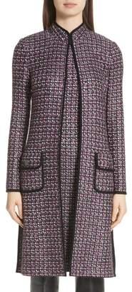 St. John Painterly Sheen Tweed Knit Topper