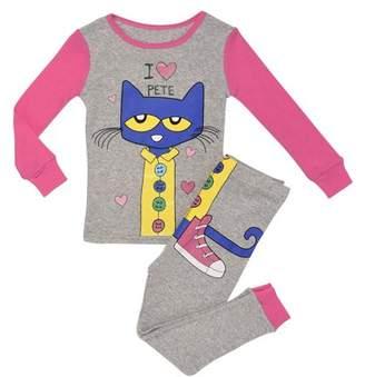 Pete the Cat Snug Fit Pajamas, 2pc Set (Toddler Girls)