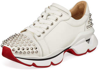 Christian Louboutin VRS Leather Red Sole Sneakers