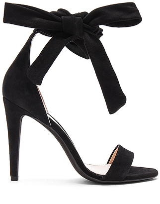 OFF-WHITE Bow Sandals in Black $924 thestylecure.com