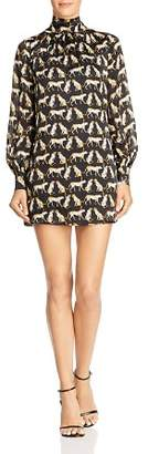Milly Sherie Cheetah-Printed Silk Mini Dress
