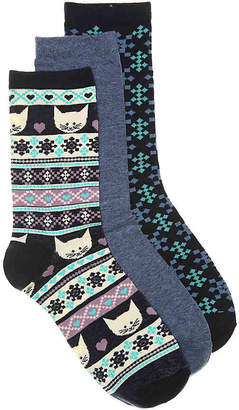 Kelly & Katie Cats Crew Socks - 3 Pack - Women's