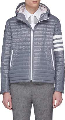 Thom Browne Stripe sleeve hooded down puffer jacket