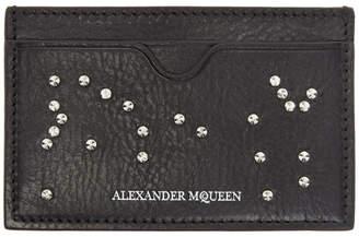 Alexander McQueen Black Studded Card Holder