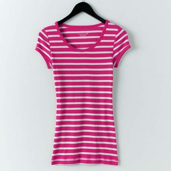 So® Striped Ringer Tee