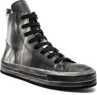 Ann Demeulemeester Leather Hi-Top Sneakers