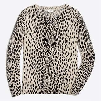 J.Crew Factory Leopard Teddie sweater