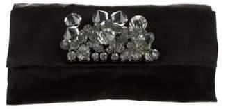 Prada Embellished Satin Clutch w/ Tags Black Embellished Satin Clutch w/ Tags