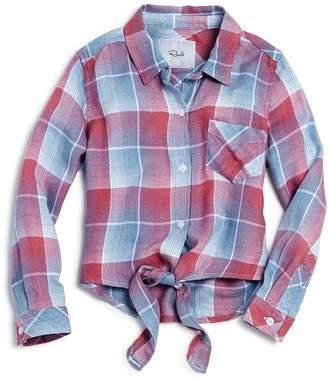 Rails Girls' Valerie Tie-Front Plaid Shirt