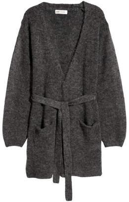 H&M Cardigan with Tie Belt - Gray