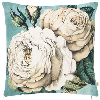 John Derian Rose Swedish Blue Decorative Pillow