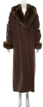 Couture Bisang Mink and Cashmere Long Coat