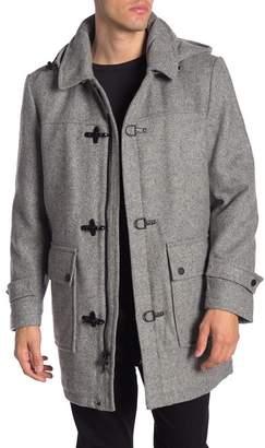 Pendleton Knob Hill Wool Blend Removable Hood Coat