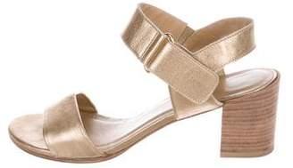 Stuart Weitzman Metallic Leather Sandals