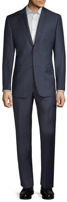 Saks Fifth Avenue Made In Italy Micro Check Wool Suit