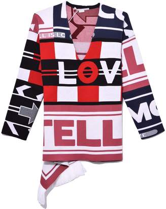 Stella McCartney All Is Love V-Neck Sweater in Multicolor
