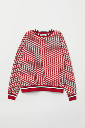 H&M Patterned Top - Red