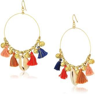 Chan Luu Charm Hoop Earrings