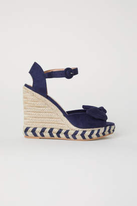 H&M Wedge-heel Sandals - Blue