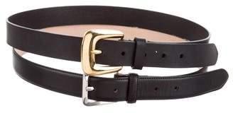 Maison Margiela Double Leather Buckle Belt