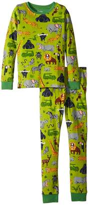 Hatley Safari Adventure Long Sleeve Pajama Set Boy's Pajama Sets