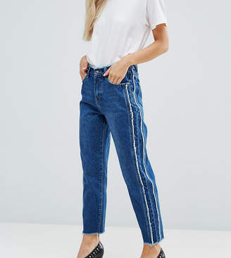 Missguided Petite Fray Detail Straight Leg Jean