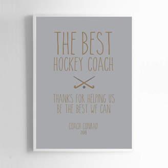 Coach Liberty Bee Personalised Hockey Print
