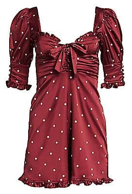 For Love & Lemons Women's Davies Polka Dot Swing Dress